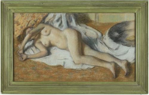 """Рис.5 Эдгар Дега """"Купальщица, лежащая на полу"""", 1885"""