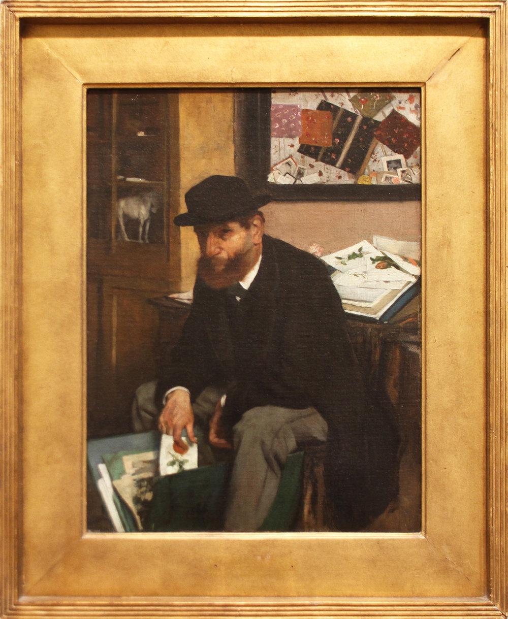 """Рис.10 Эдгар Дега """"Коллекционер гравюр"""", 1866"""
