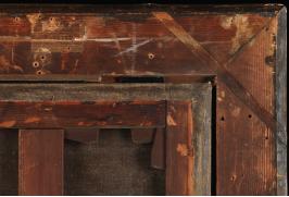 """Рис. 11 Обратная сторона картины """"Коллекционер гравюр"""""""