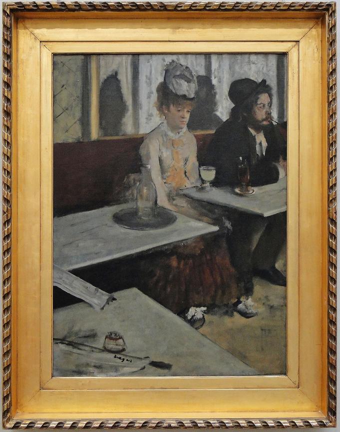 """Рис. 13 ЭдгарДега """"В кафе (Абсент)"""" (1875-76)"""