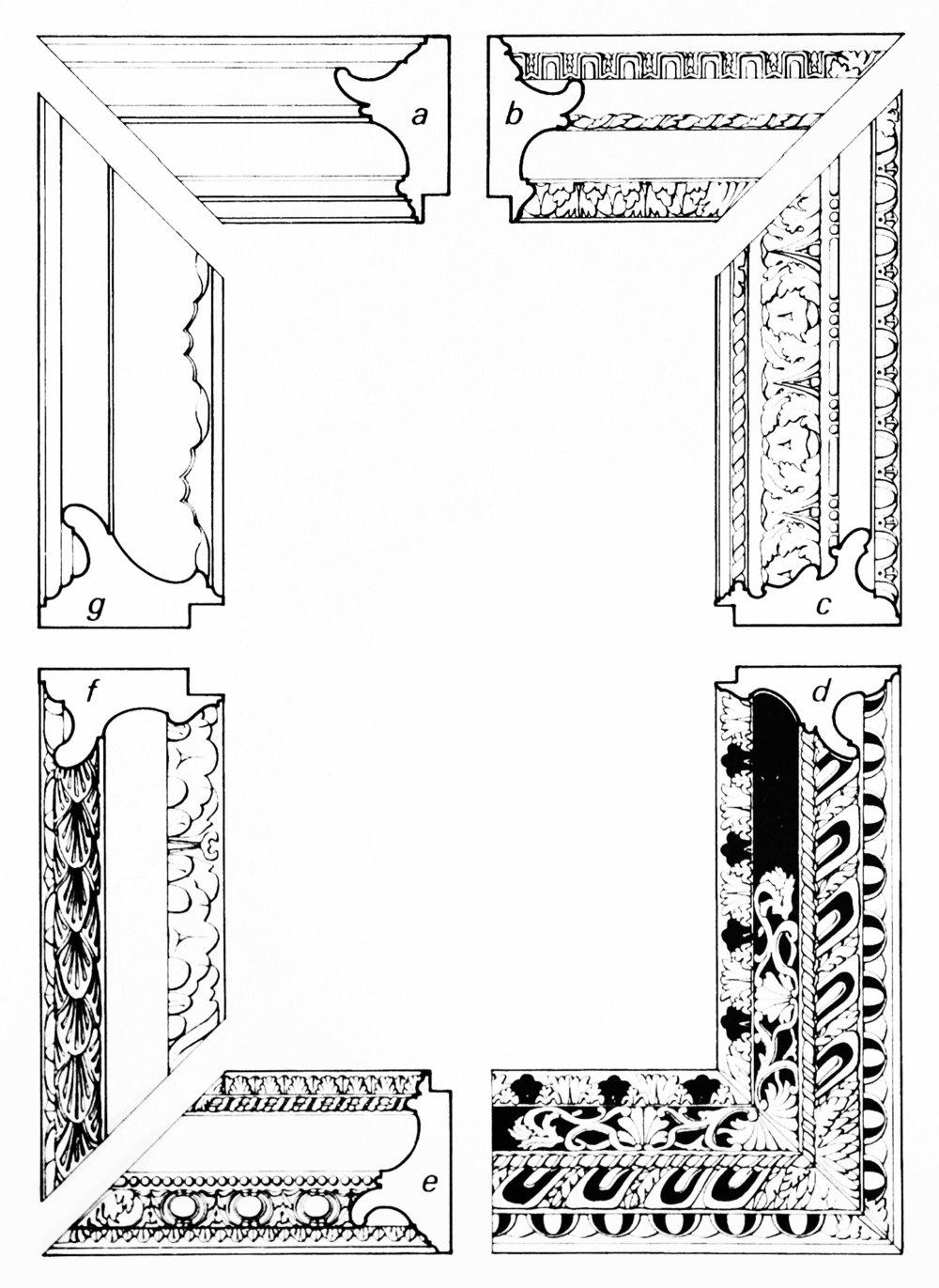 Рис. 24 Итальянские рамы«Сальватор Роза», 18-й век.