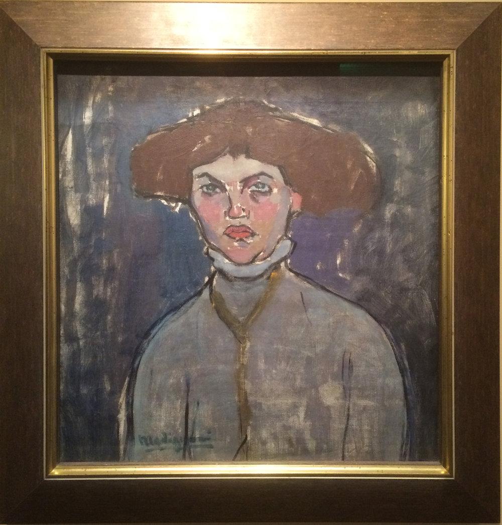 """Рис.1 Амедео Модильяни """"Портрет женщины"""" (1908)"""