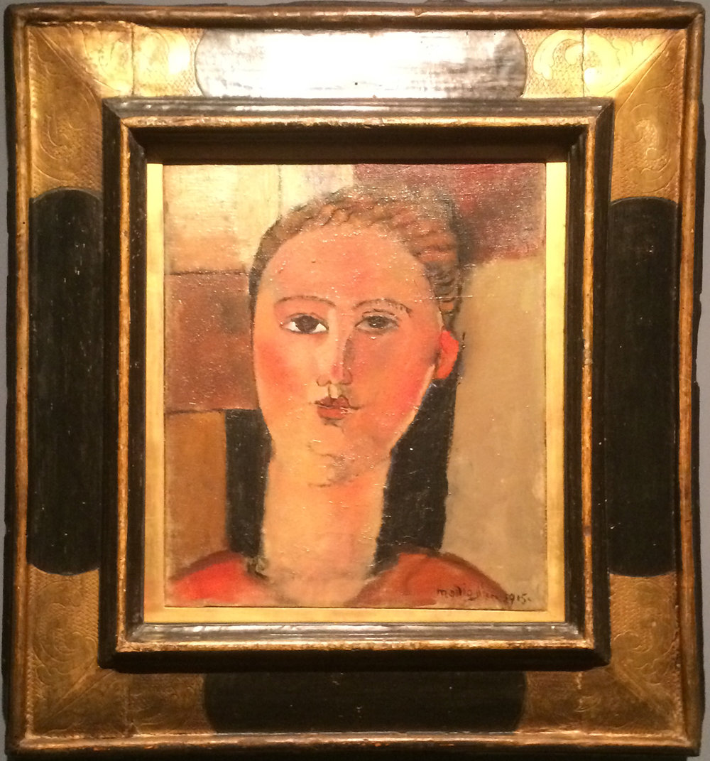 """Рис.2 Амедео Модильяни """"Девушка с рыжими волосами"""" (1915, Musée de l'Orangerie)"""