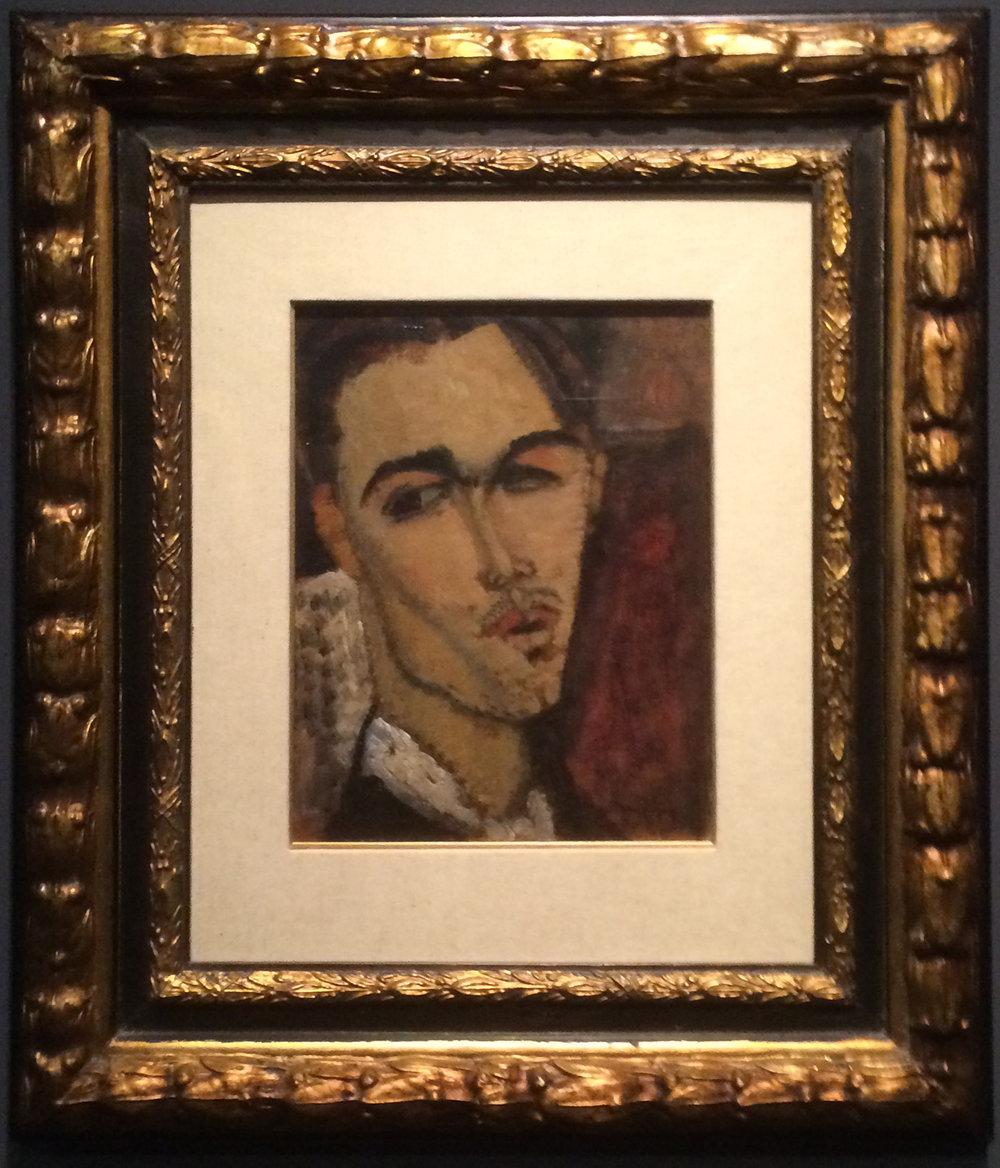 """Рис.4 Амедео Модильяни """"Портрет Сельсо Лагара"""" (1915)"""