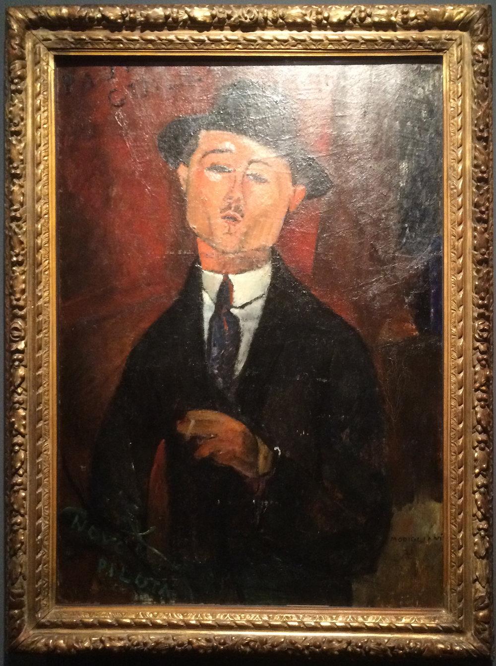"""Рис.7 Амедео Модильяни """"Портрет Пола Гильома"""" (1915, Musée de l'Orangerie)"""