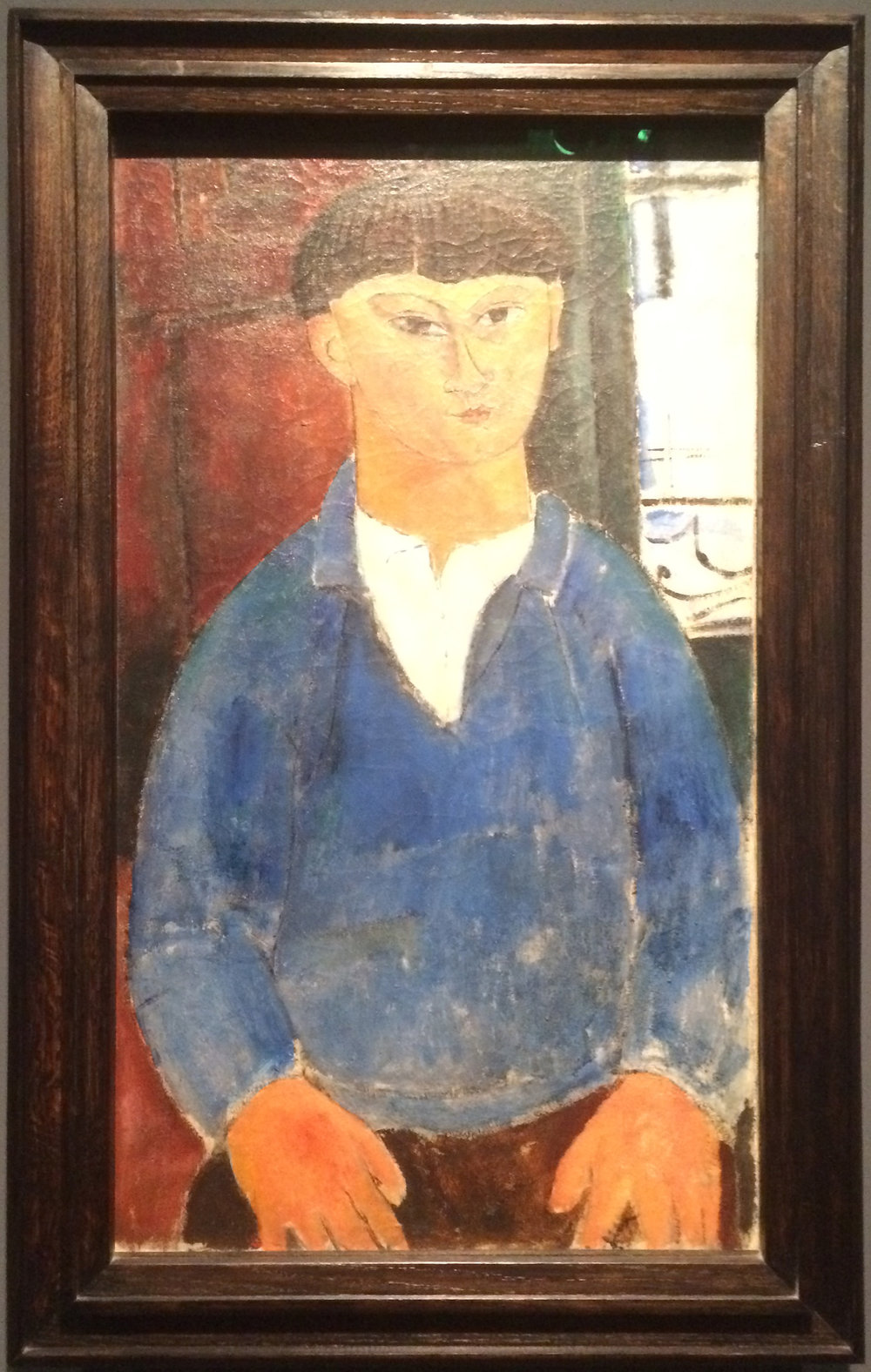 """Рис.9 Амедео Модильяни """"Портрет Моисея Кислинга"""" (1916)"""