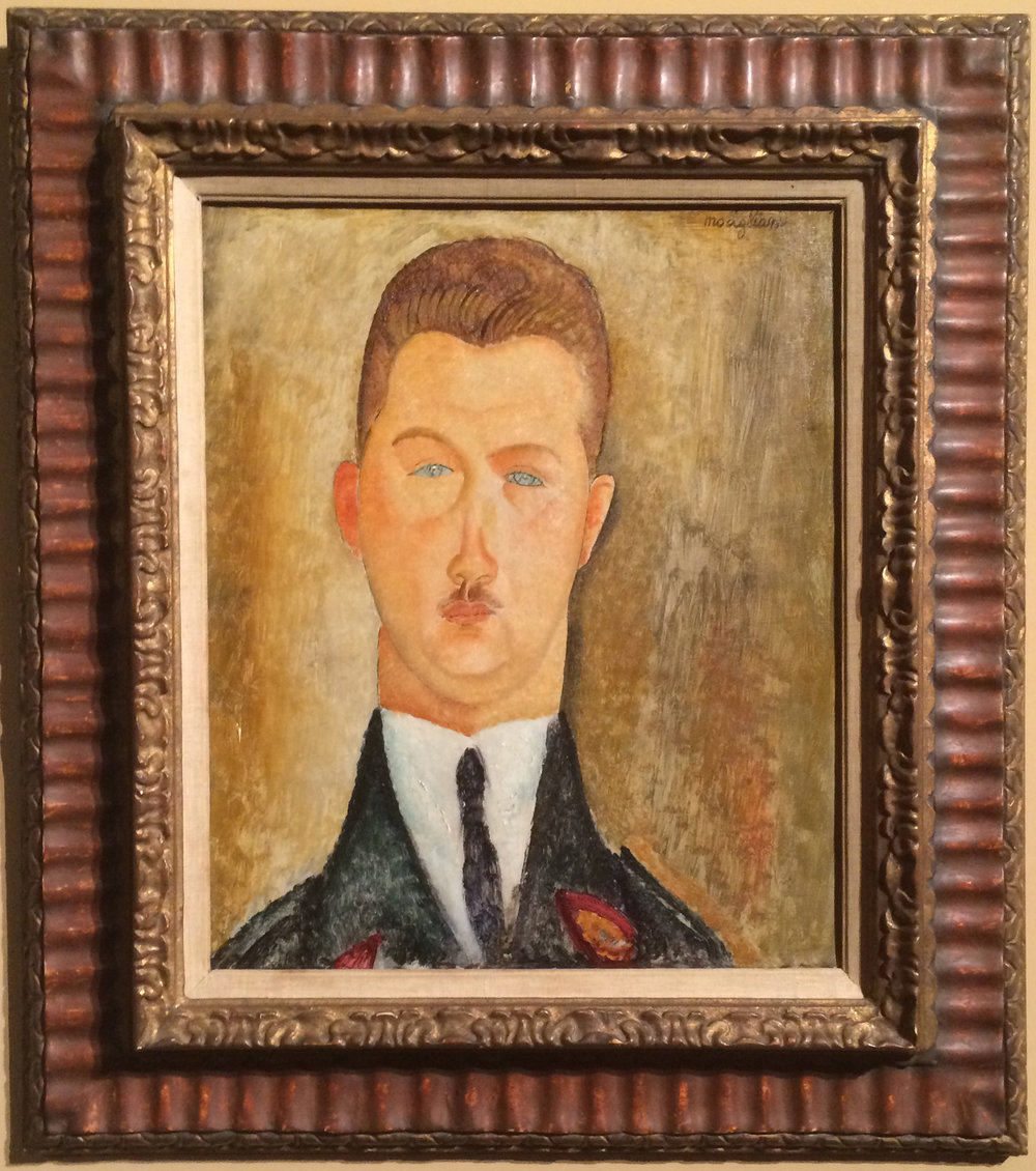 "Рис.12 Амедео Модильяни ""Портрет доктора Франсуа Брабандера"" (1918)"