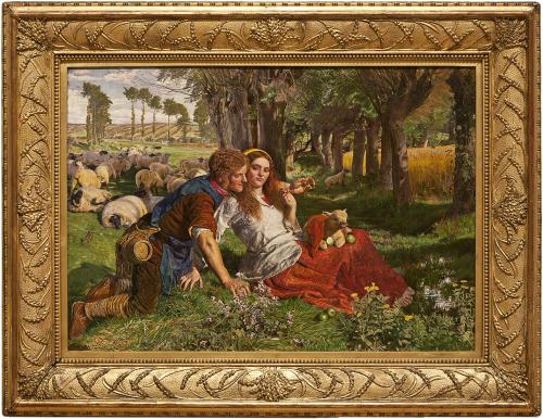 """Рис.10 Холман Хант (1827-1910)""""Наёмный пастух"""" 1851"""
