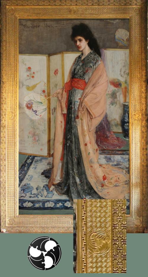 Рис.23 Д.Э.М. Уистлер (1834-1903), La princesse du pays de la porcelaine, 1863-65