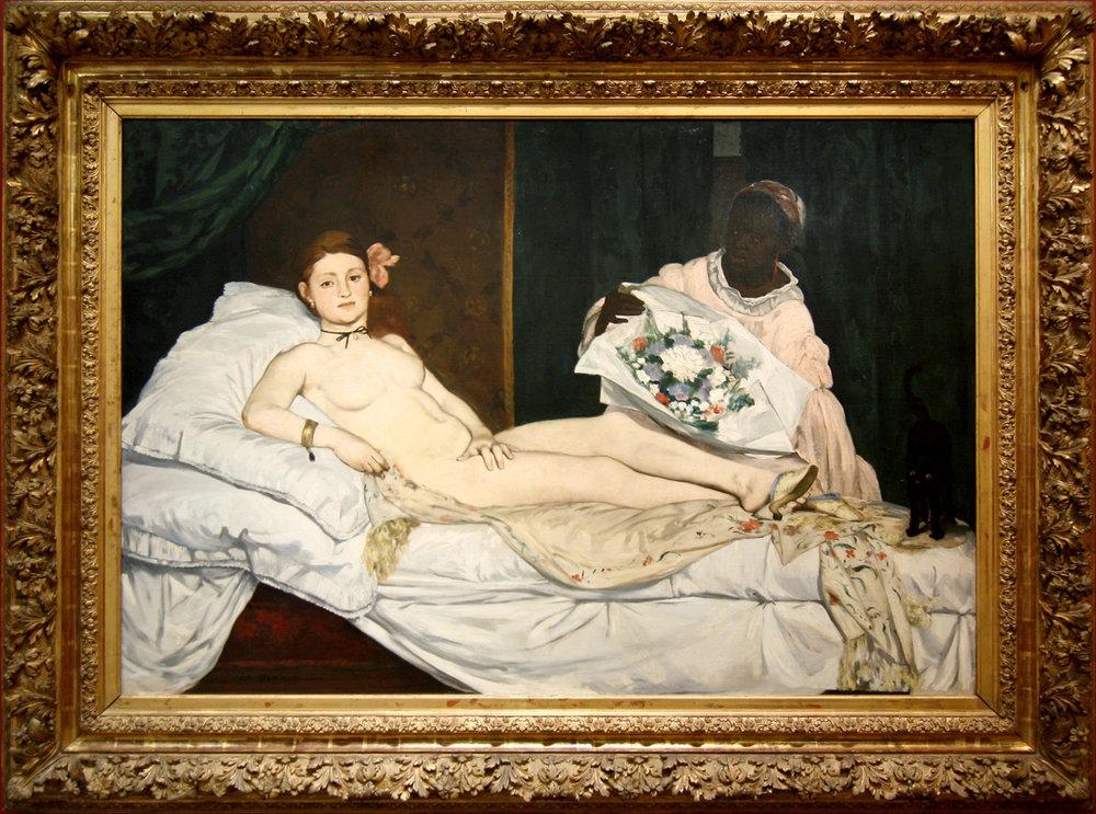 """Рис.27 Эдуард Мане (1832-83), """"Олимпия"""", 1863"""