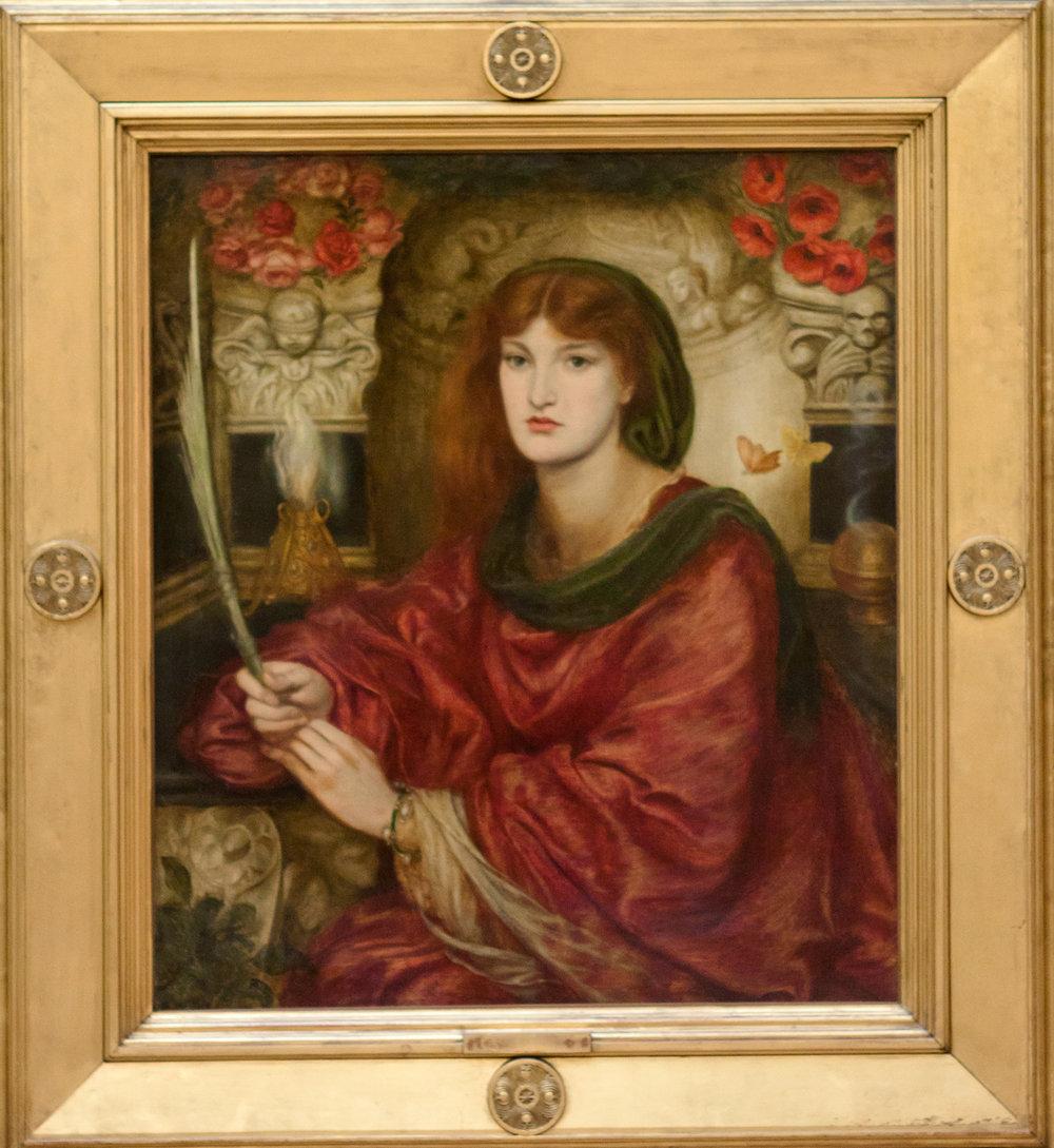 """Рис.29 Д.Г. Россетти (1828-82), """" Сивилла Палмифера  """" , 1866-70"""