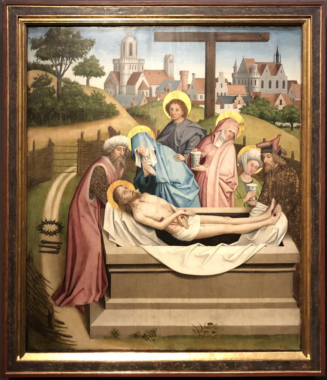 """Рис.6 Мастер алтаря Штерцинга """"Погребение Христа"""" (около 1450-55 гг.)"""