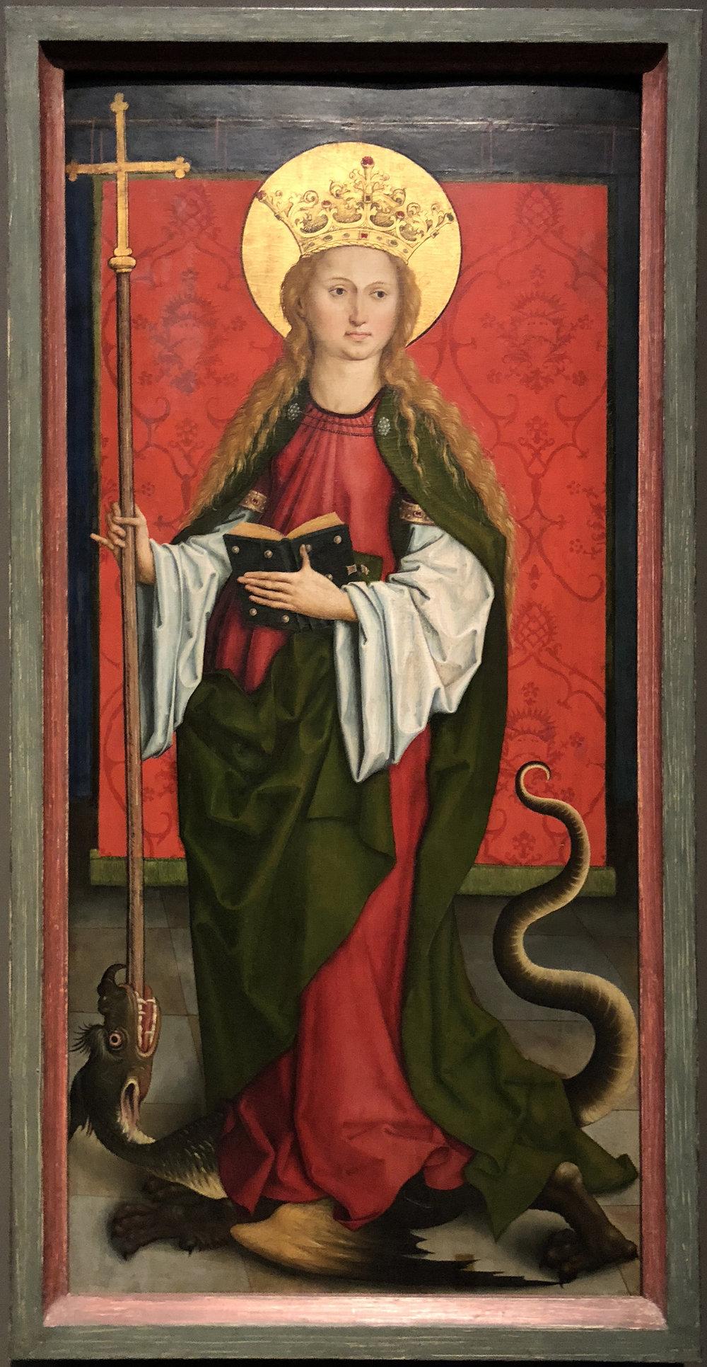 Рис.9 Алтарь Кильхберга,Святая МаргаритаАнтиохийская(около 1494 г.)