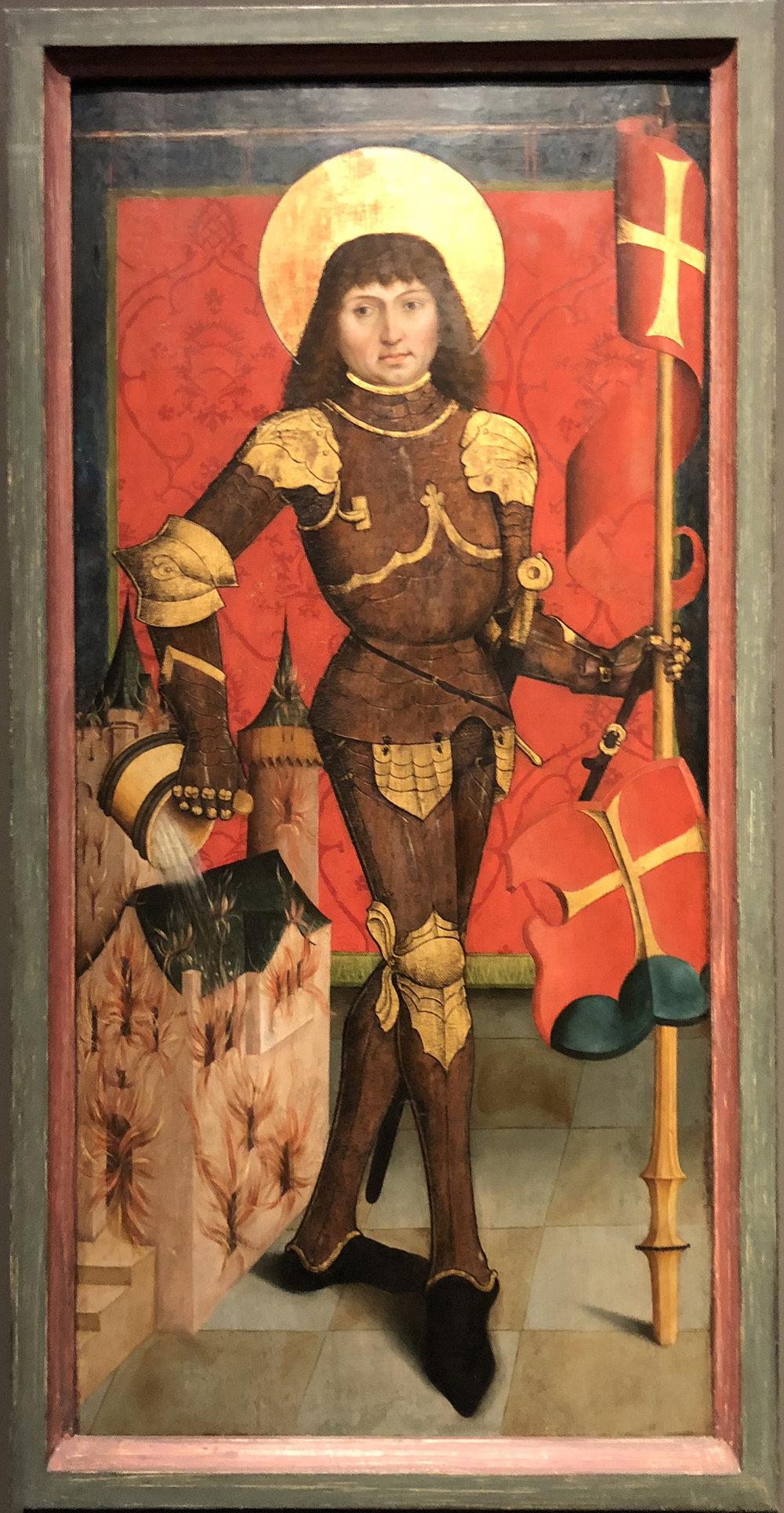Рис.10 Алтарь Кильхберга, Свята я Флориан Норикийский(около 1494 г.)