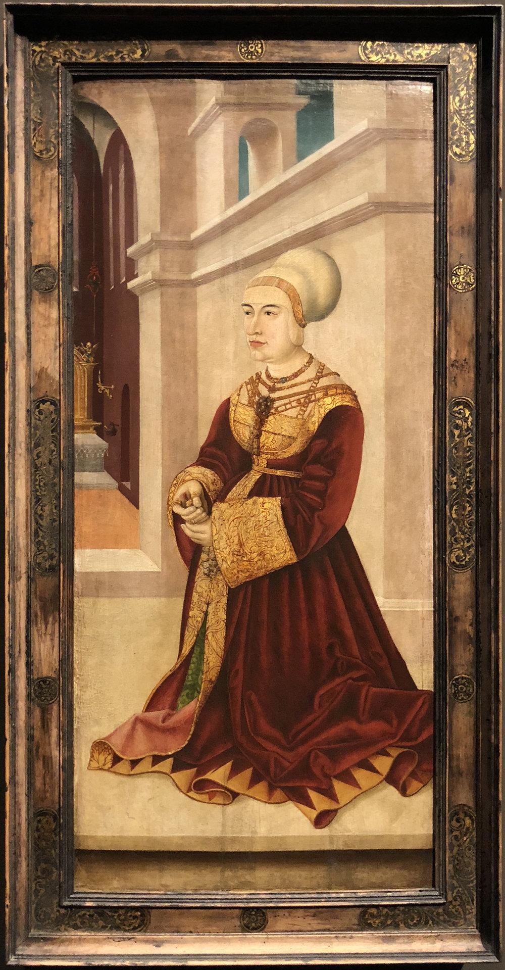 """Рис.12 Мартин Шаффнер """"Сибиллаван Фрейберг, урожденная Госсенброт"""", 1521/1524"""