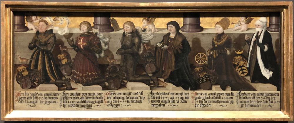 "Рис.13 Мартин Шаффнер ""Эпитафия семьи ван Анвилг"", 1514"