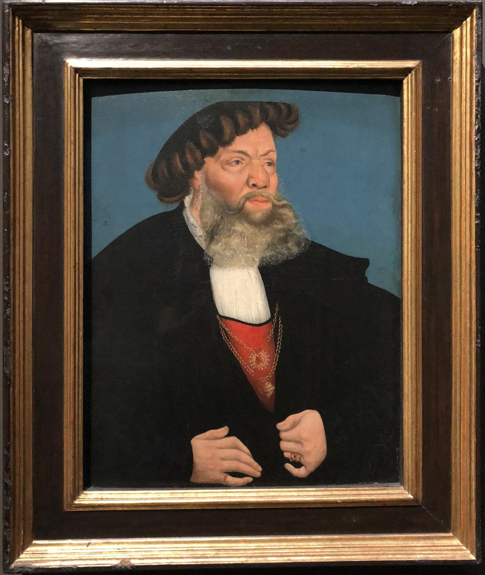 "Рис.15 Лукас Кранах Старший ""Джобст ван Хайн"", 1543"