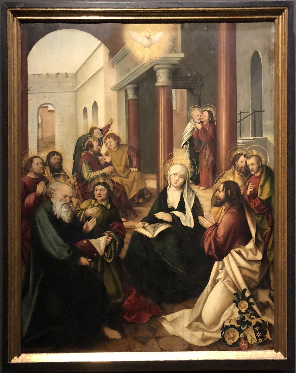 """Рис.18 Мартин Шаффнер """"Сошествие святого духа"""", 1510"""