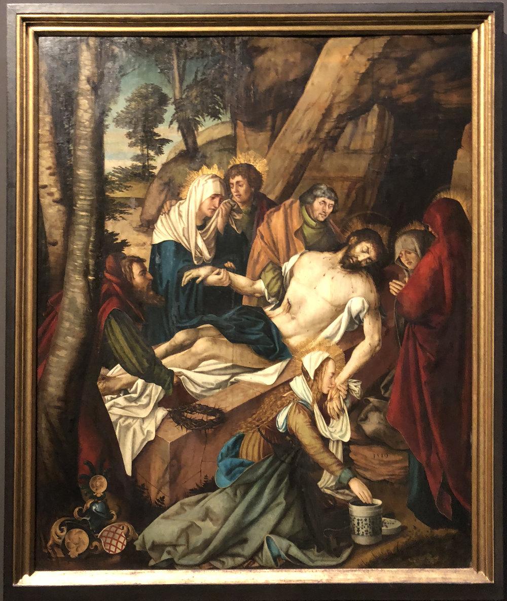 "Рис.19 Мартин Шаффнер ""Погребение Христа"", 1519"