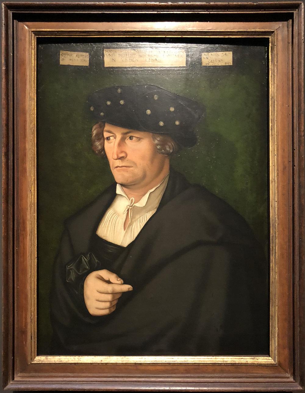 """Рис.22 Ханс Бальдунг""""ХансЯков, баронМорсперги Беффер"""", 1525"""