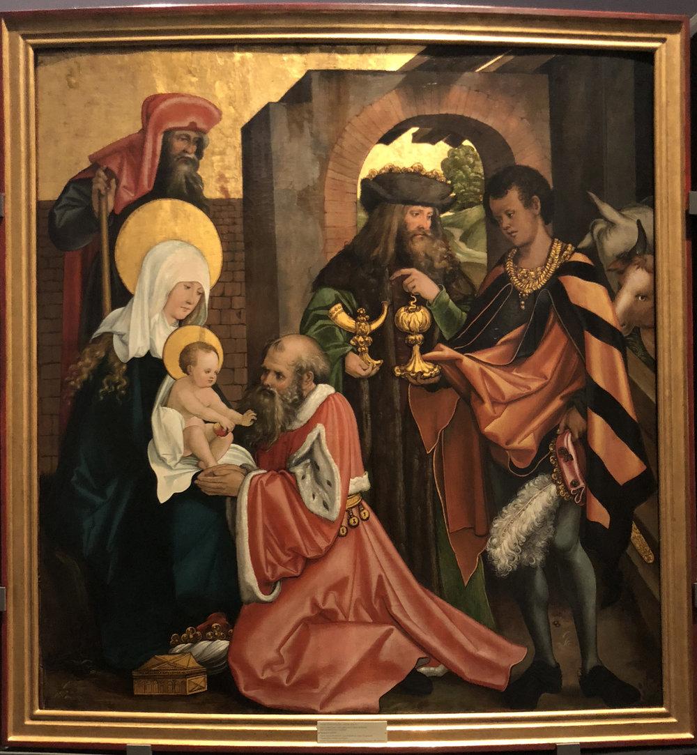 """Рис.23 Ханс Шойфелин """"Поклонение волхвов"""", 1508/1509"""