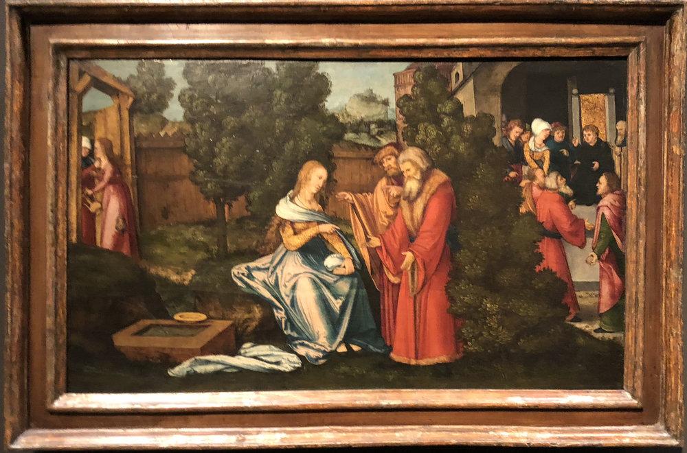"""Рис.24 Ханс Шойфелин """"Сюзанна и старцы"""", 1516/1517"""