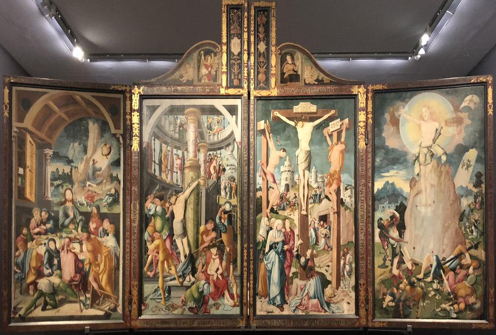 """Рис.27 Йорг Ратгеб """"`Алтарь вХерренберге"""", 1525"""