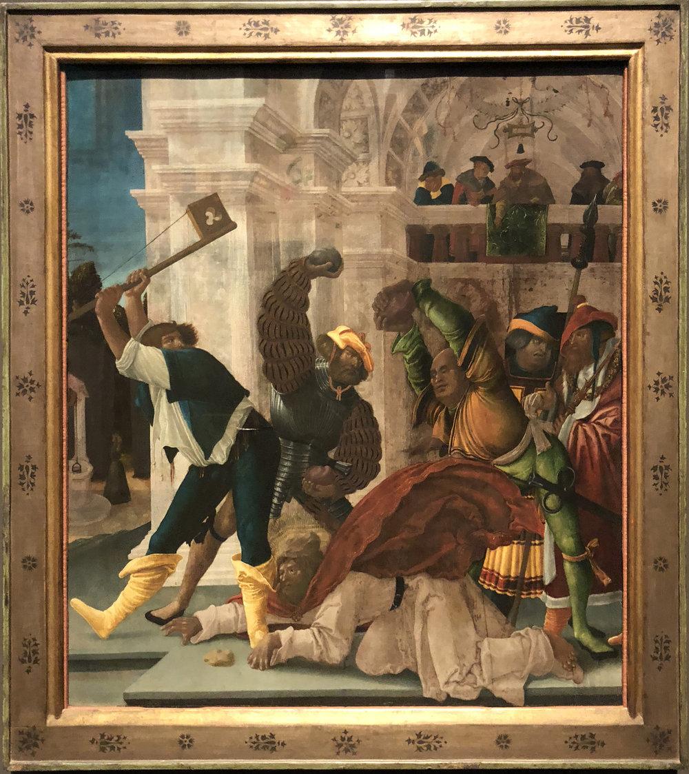 """Рис.28 Автор неизвестен """"Мученичество Апостола Иакова Младшего"""", 1518"""