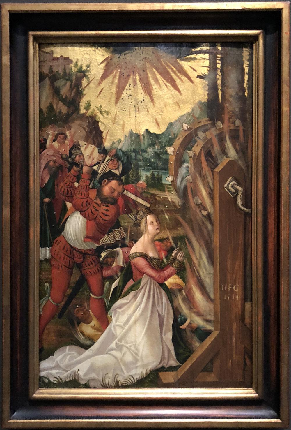 """Рис.29 Автор неизвестен """"Мученичество святой Екатерины"""", 1514"""