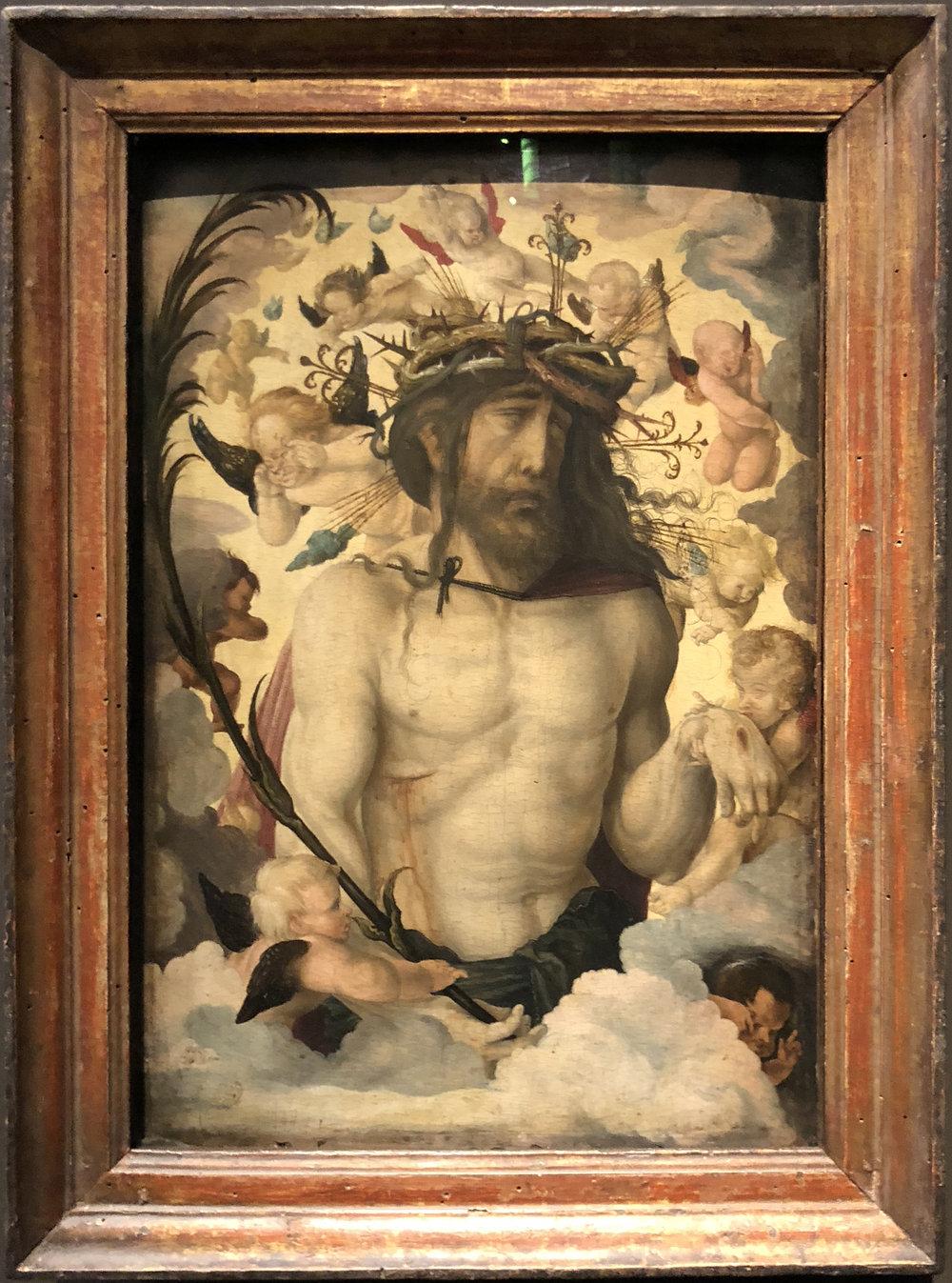 """Рис.30 Ханс Бальдунг """"Христос в терновом венце"""", около 1520 г."""
