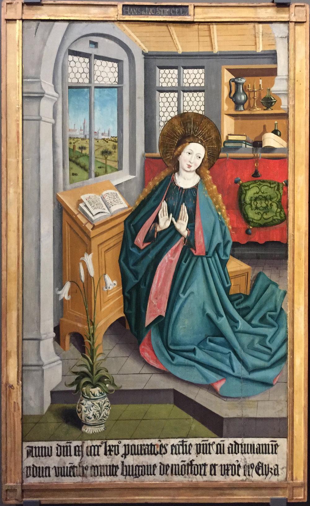 """Рис.3 Ханс Штригель """"Алтарь из Монфорта-Верденберга"""", 1465 г."""