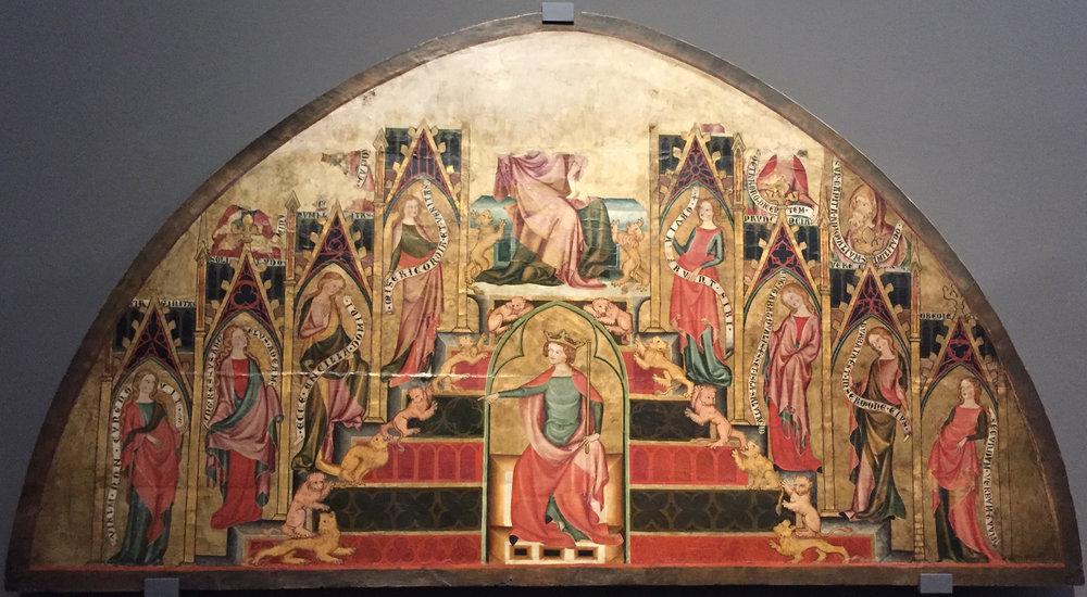 """Рис.1 ШколаКонстанцкого озера """"Дева Мария на троне Соломона"""", около 1335 г."""