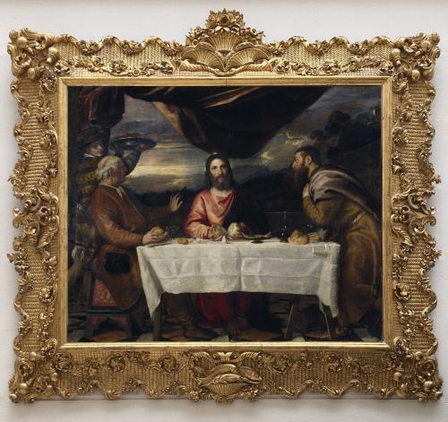 """Рис.10 Тициан (приблизительно 1490-1576), """"Ужин в Эммаусе"""", приблизительно 1545"""