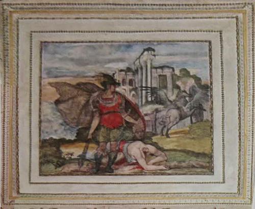 Рис.17 Фиктивная рама  cassetta , Palazzo Thiene, Виченца