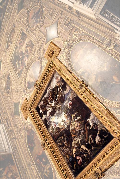 """Рис.19 Тинторетто (1519-94), """"Вознесение медного змея"""", 1575-76"""