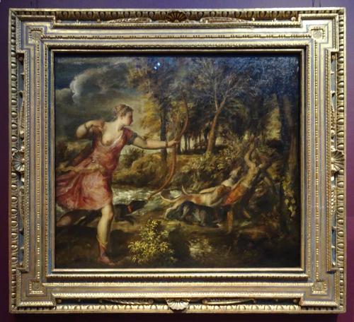 """Рис.21 Тициан ( приблизительно 1490-1576), """"Смерть Актеона"""", приблизительно 1559-75"""