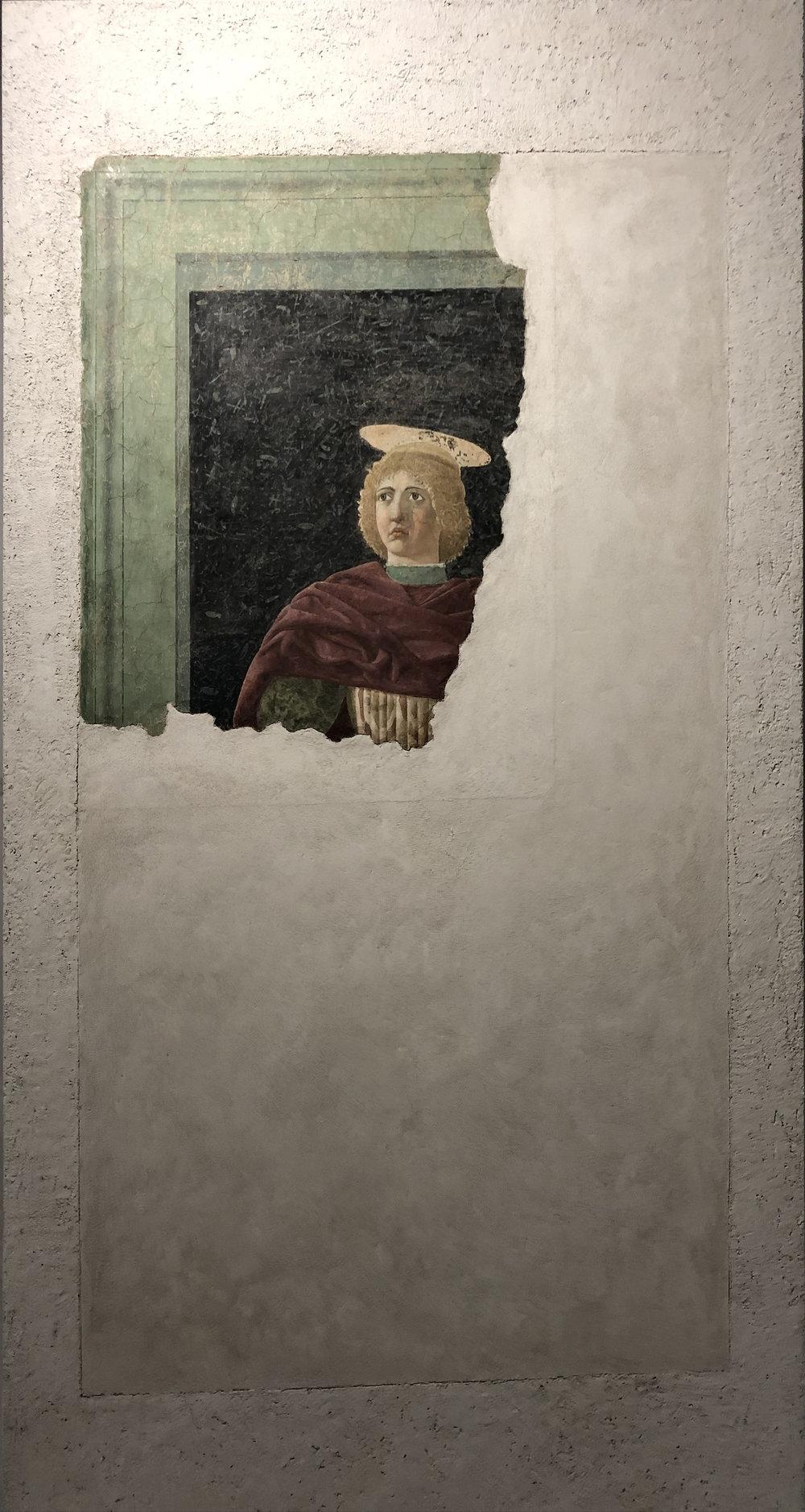 """Рис.5 Пьеро делла Франческа """"Святой Юлиан"""", 1453-1454 гг.; фреска, переведенная на дерево; Городской музей Сан Сеполькро."""