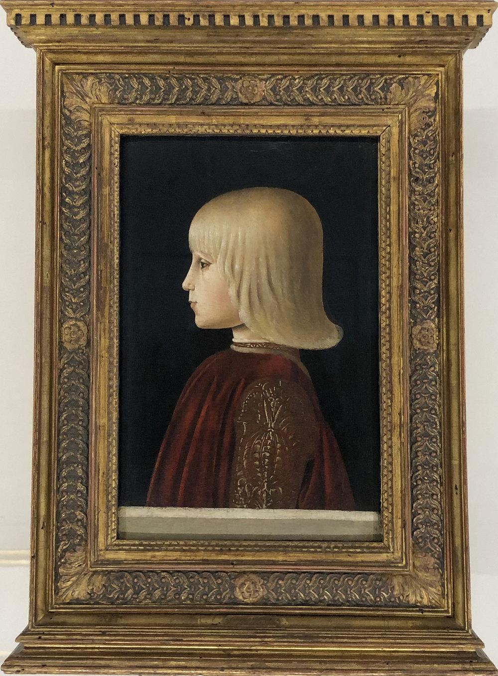 """Рис.6 Пьеро делла Франческа """"Портрет Гвидобальдо да Монтефельто"""", ок. 1483 г.; дерево, темпера; Музей Тиссена-Борнемисы, Мадрид."""
