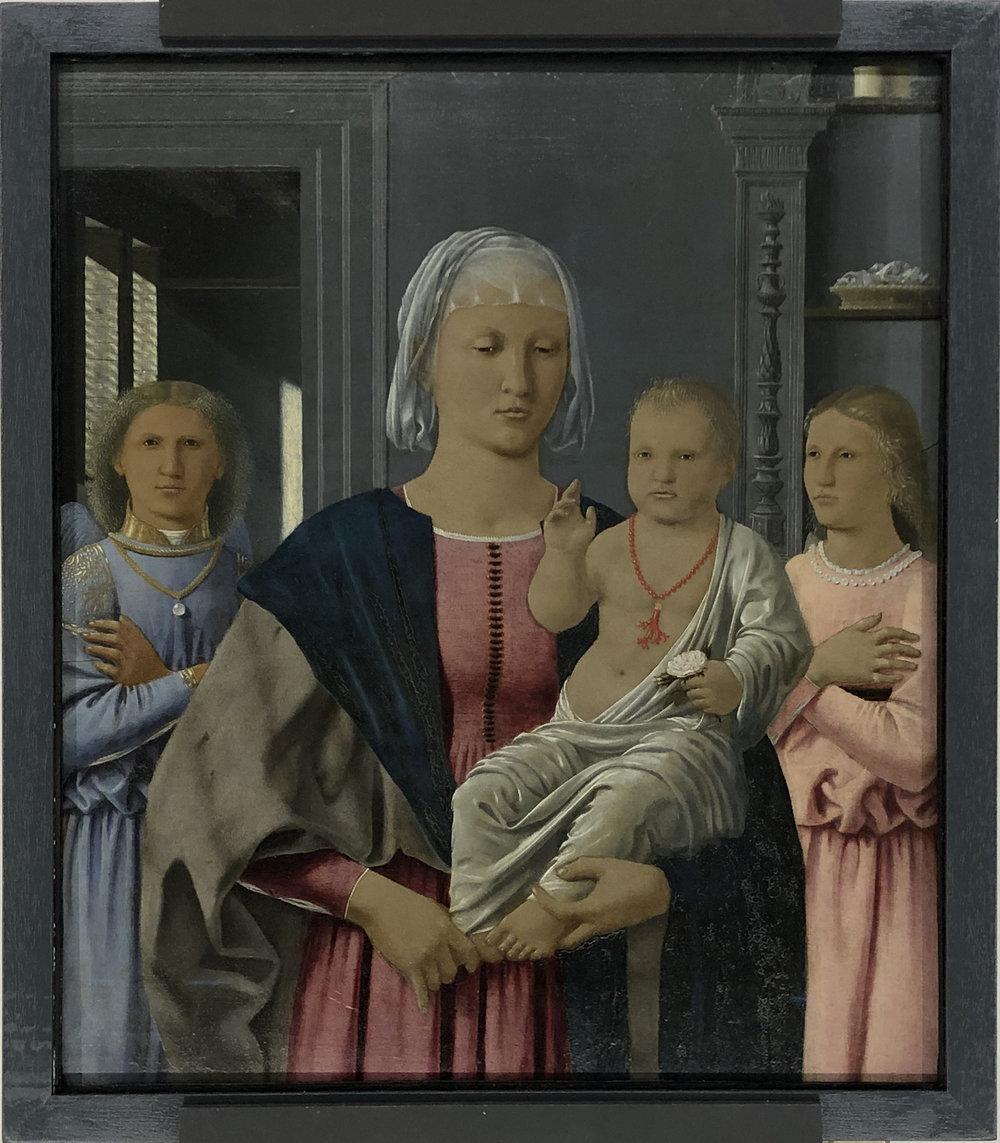 """Рис.7 Пьеро делла Франческа """"Мадонна с младенцем (Мадонна Сенигалия)"""", 1470-е гг.; дерево, темпера, масло; Национальная галерея Марке, Урбино."""