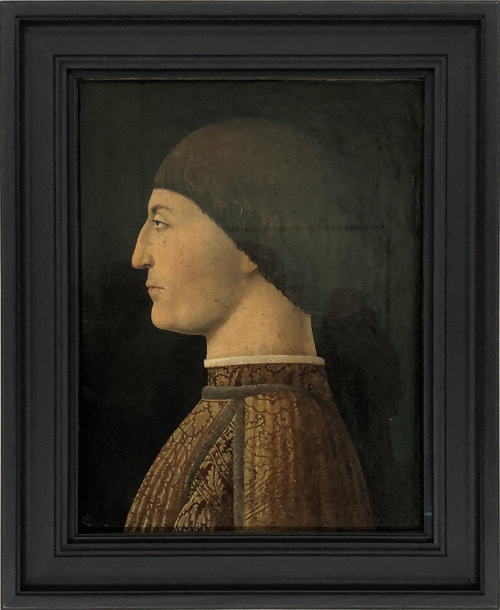 """Рис.9 Пьеро делла Франческа """"Портрет Сиджизмондо Пандольфо Малатеста"""", 1450-1451-е гг.; дерево, масло; Лувр, Париж."""