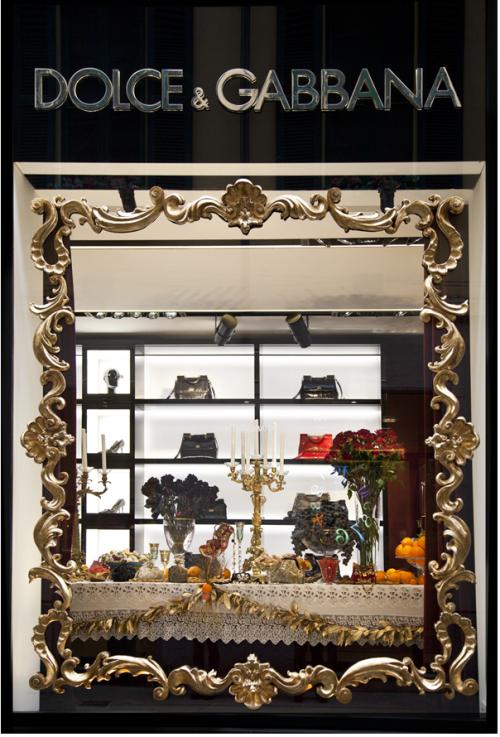 Рис. 13 Dolce & Gabbana, рождественская витрина 2012 года, Милан