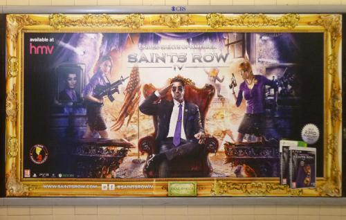 Рис. 14 Saints Row IV, реклама в Лондонском Метро, август 2013 г.