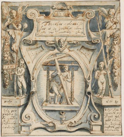 """Рис. 2 Карел ван Мандер """"Иисус в винном прессе"""", 1596 г."""