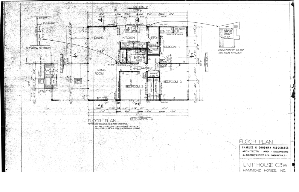 Original Goodman floor plan