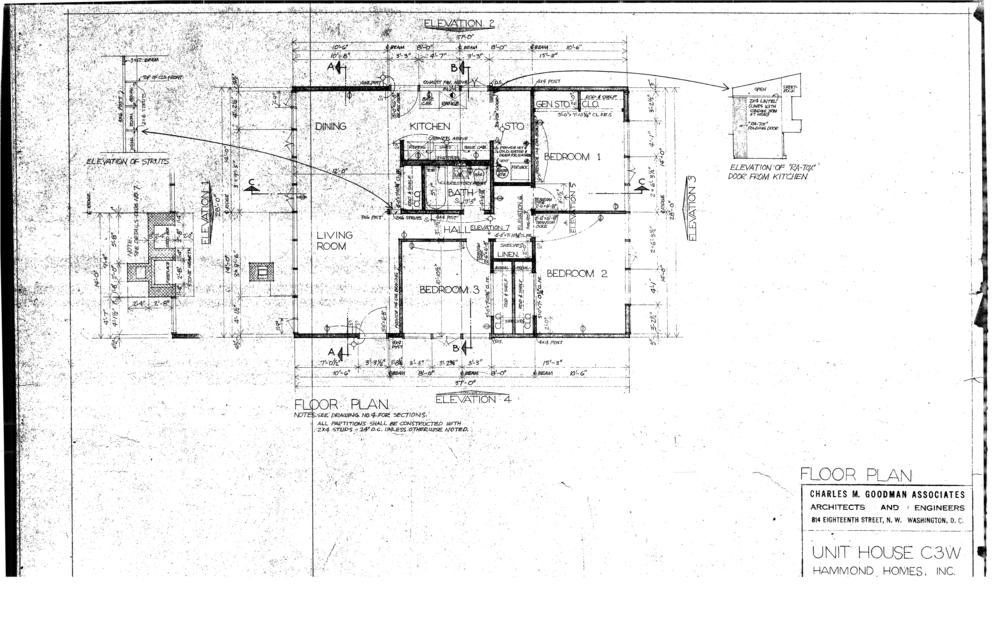 Original Goodman floor plan