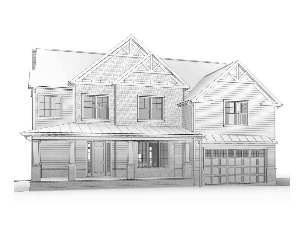 Front view of a new house we are permitting