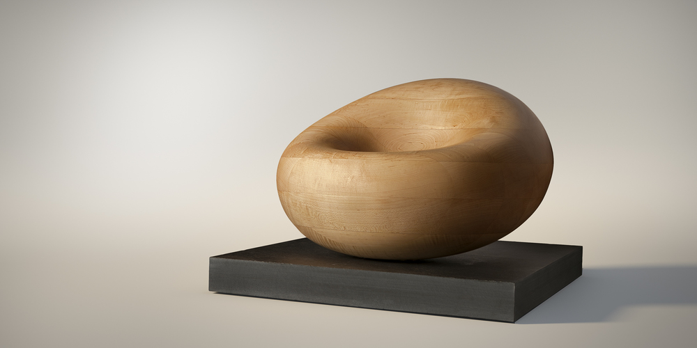 Jorge Palacios: Blood cell , 2015. Made of hard maple and slate