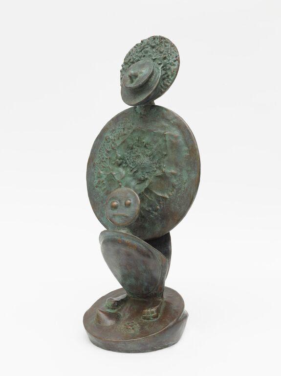 Max Ernst, Apaisement , 1961,Bronze. Green patina.26 1/2 x 11.7 x 9 in.68 cm x 29.8 x 22.9 cm.© 2015 Artists Rights Society (ARS), New York / ADAGP, Paris