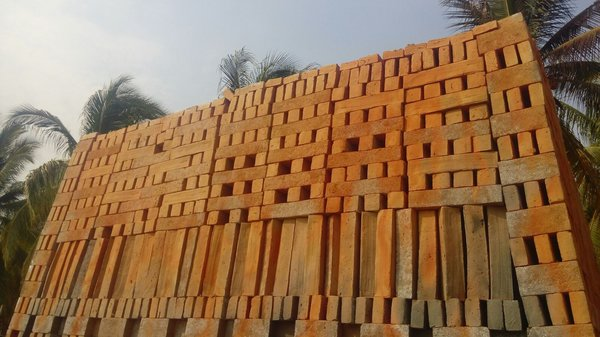 "Clay timbers in Oaxaca, Mexico, to be used in Bosco Sodi's installation ""Muro."" Courtesy of Studio Bosco Sodi."