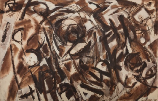 Lee Krasner, Seeded, 1960, oil on canvas, 70 3/4 x 109 inches, 179.7 x 276.9 cm. Courtesy of Paul Kasmin Gallery © 2017 The Pollock-Krasner Foundation / Artists Rights Society (ARS), New York.